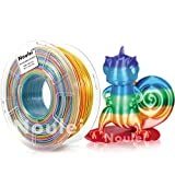 {Amazing Silk Texture} The NOULEI Shiny Rainbow 3d Printer Filament will give you an amazing print. Outstanding shiny rainbow surface finish prints with Noulei Silk PLA filament 3D Printing Materials definitely gave an eye-popping result. {Easy to Pr...