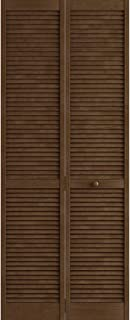 Kimberly Bay Traditional Louver Louver Espresso Solid Core Wood Bi-fold Door (80x30)