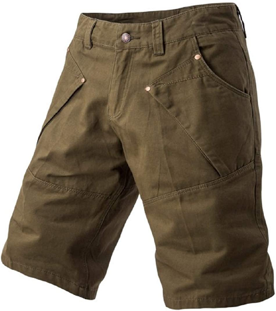 CHARTOU Men's Summer Natural Waist Wide Leg Solid Cargo Work Shorts Pants