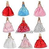 Barwa Hasard 3 Pièces Robe Vêtements Robe Tenue pour Poupée Barbie Princesse Fête Soirée Mariage Cadeau De Noël