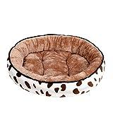 CHANGXI Cama de Perro Cama de Gato, Suave Cómodo, Cojín Lavable de la Cama, Redondo u Ovalado Nido de Donut, Cama para Mascotas,Mike Coffee,L