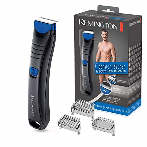 Remington BHT250 Delicates - Afeitadora Corporal, Cuchillas de Acero Inoxidable,...