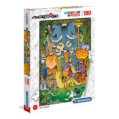Clementoni - 29204 - Supercolor Puzzle - Mordillo, The Picture - 180 Pezzi - Made In Italy - Puzzle Bambini 7 Anni
