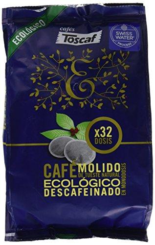Toscaf Café Ecológico Descafeinado - 2 Paquetes de 32 Unid