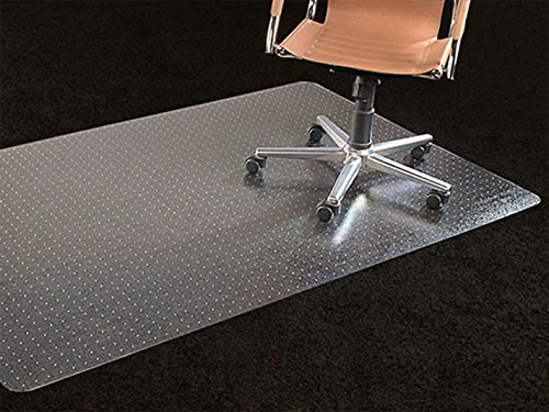 Office Premium Chair Mat 35'x47' Carpet Protection Mat Low Medium Pile,Studded,Clear,Rectangular Shaped