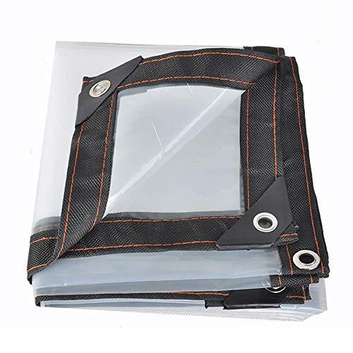HCYTPL wit transparant zeil met metalen ogen, doorzichtig waterdicht zeil, isolatie voor de broeikas, doorzichtige plastic tent, 120 g/M2