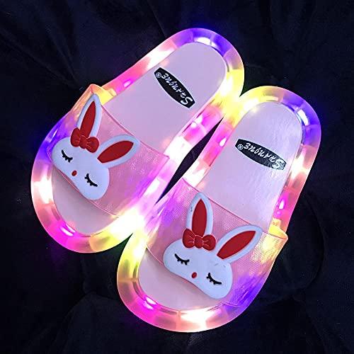 Zapatillas Deportivas De Mujer Blancas,Zapatillas para NiñOs Luminosos, Dibujos Animados Lindo De Verano Luz De Luz De Conejo, Regalos De CumpleañOs, Regalos De CumpleañOs, Femenino, NiñO-NiñO BañO,