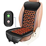 ELUTO Heated Car Seat 12V/24V Car Heated Seat Covers Cushion Pad Car Seat Warmer with Intelligent Temperature Controller 3 Levels Heating for Cars Truck Office Home