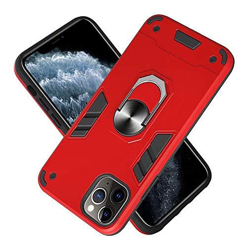 Funda Moto G50 con soporte de anillo magnético, resistente para cinturón de armadura de grado militar duro al aire libre a prueba de golpes Funda protectora para Moto G50 rojo
