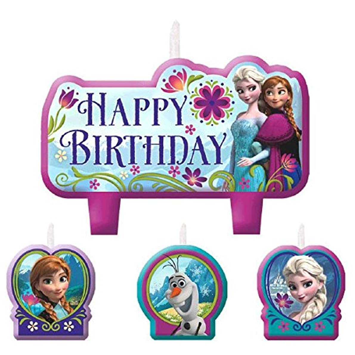 AMSCAN 171416 Birthday Candle Set | Disney Frozen Collection | Party Accessory, 2 3/10