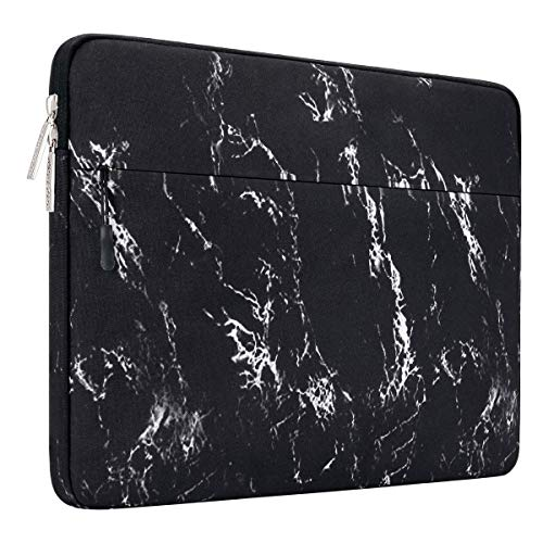 MOSISO Laptophülle Kompatibel mit 13-13,3 Zoll MacBook Pro, MacBook Air, Notebook Computer Canvas Marmor Muster Hülle Sleeve Tasche Schutzhülle Laptoptasche Notebooktasche, Schwarz