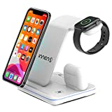 Innens 15W Wireless Charger Station, 3-in-1 Fast Wireless Charging Dock Stand for iPhone 11/11 Pro/11 Pro Max/Xs Max/XS/XR, Galaxy Phone, Apple Watch 6/5/4/3/2/1, Airpods