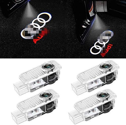 4 Stück Auto-LED-Türleuchten Projektor-Logo Geisterbeleuchtung Willkommenslampe Pfützenleuchten für a u d i A3 A4 A5 A6 A7 A8 Q2 Q3 Q5 Q7 R8 RS S-Serie…