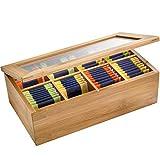 Westmark Caja para bolsitas de té, con 8 Compartimentos, Teatime, Bambú, 28 x 16 cm, 15742260, Bambus