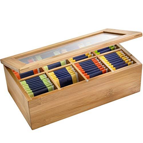 Westmark 15742260 - Caja para bolsitas de te, madera de bambu, 28 x 16 x 9 cm