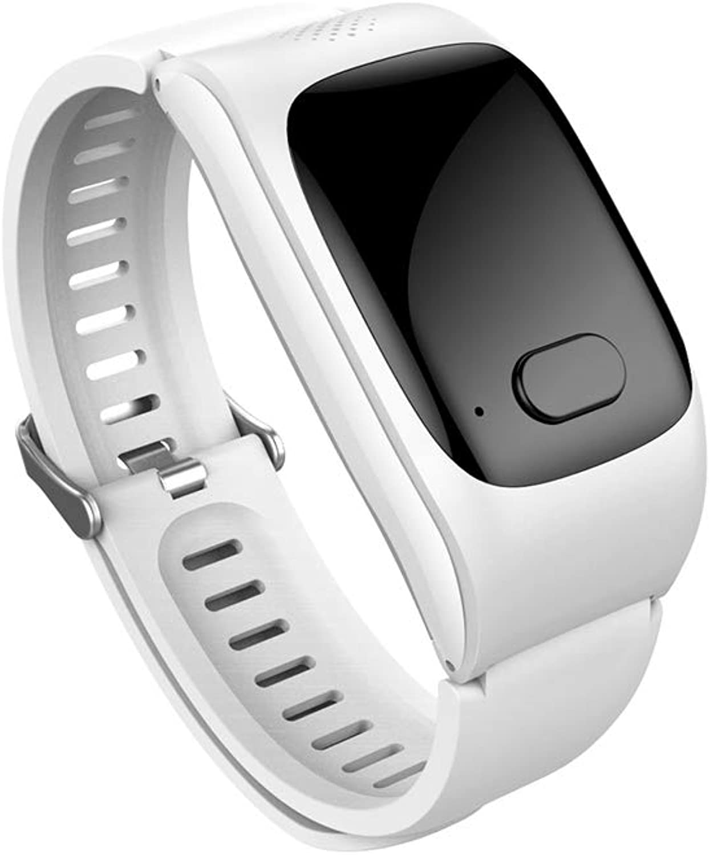 SJUAN Fitness-Tracker, Herzfrequenz-Blautsauerstoff-Blautdruckmessgert staubdicht und wasserdichtes GPS-Sechsfache Positionierung für Frauen Mnner lter,Weiß