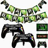 Artículos para fiestas de videojuegos, globos y decoración colgante