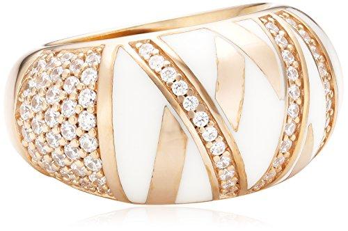 Joop Damen-Ring 925 Sterling Silber Harz Zirkonia Stripes weiß Gr.57 (18.1) JPRG90726C570