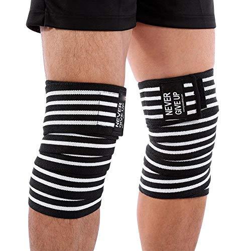 Qiilu Adjustable Knee Bandage,Patella Support Brace Wrap Kneepad Sleeve Cap Sports Protect