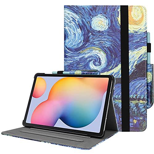 HoYiXi Custodia per Samsung Galaxy Tab S6 Lite 10.4 Pollici 2020 Ultra Slim Case in Pelle Cover con Supporto Custodia di Tablet per Samsung Galaxy Tab S6 Lite 10.4 SM-P610/P615 (Notte Stellata)