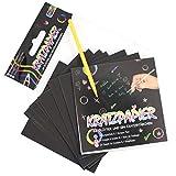 Kratzpapier Kratzbilder 25tlg 8,5cm Scratch Basteln Mitgebsel Kindergeburtstag -