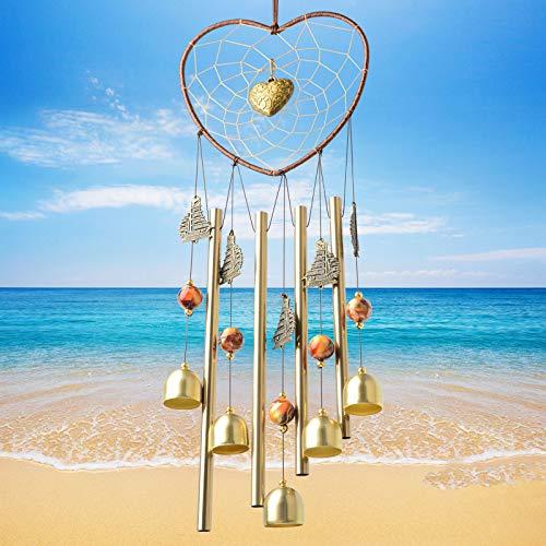 JOBOSI Heart Wind Chime Dream Catcher, Wind Chime Outdoor, windchimes Unique Outdoor Outside Wind Chimes Small Chimes Memorial Wind Chimes Garden Decor Yard Decor