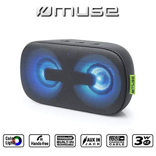 Muse M-370 DJ Tragbarer Bluetooth-Lautsprecher, schwarz