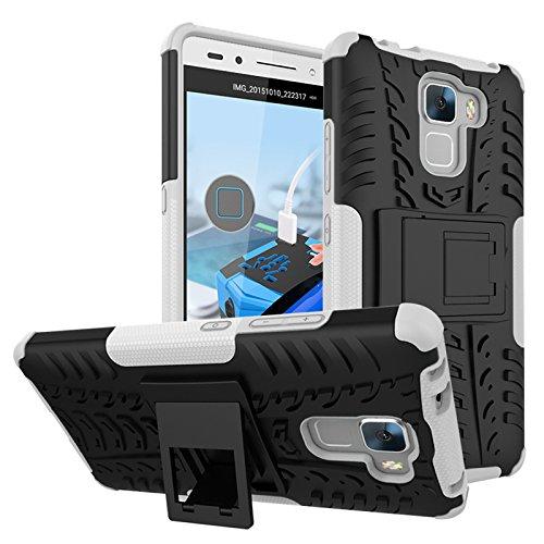 BCIT Huawei Honor 5C/Honor 7 Lite/GT3/GR5 Mini Cover Escabroso Durable Estuche Protector TPU/PC Funda Carcasa Case para Huawei Honor 5C/Honor 7 Lite/GT3/GR5 Mini - Blanco