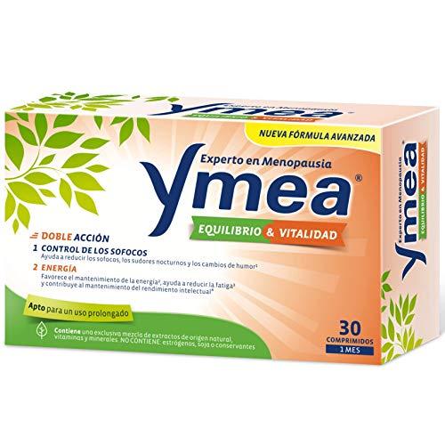 Ymea Equilibrio y Vitalidad - Tratamiento de la Menopausia, control de Sofocos, ayuda a mantener la Energía, uso prolongado, sin estrogenos, soja o consevantes, tratamiento 1 mes, sin Color, 30 unidad