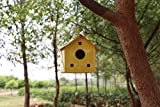 MATERIAL: This Bird House Is Proudly Made India. This Bird Nest Is Made With Metal. This Bird Nest Is Comes In pink Color ATTRACTIVE DESIGN: This Bird Nest Is Comes With Hanging Hook Thread And Patch Wall Hook Design So We Can Hang It On Terrace, Bal...