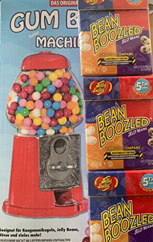 Kauwgom automaat rubberen bal automaat spaarpot + 135 g Jelly Belly Beans Bean Boozled
