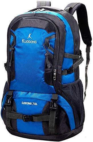 LXX-LX Mochilas de senderismo, morral del estudiante, morral del recorrido impermeable y transpirable Escalada Trekking Senderismo Montañismo camping Mochila Hombres Mujeres (70L), 55cm x 31cm x 18cm