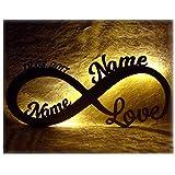 Infinity, luce d'amore, regalo per San Valentino, personalizzato con nomi. Il regalo perfetto per...