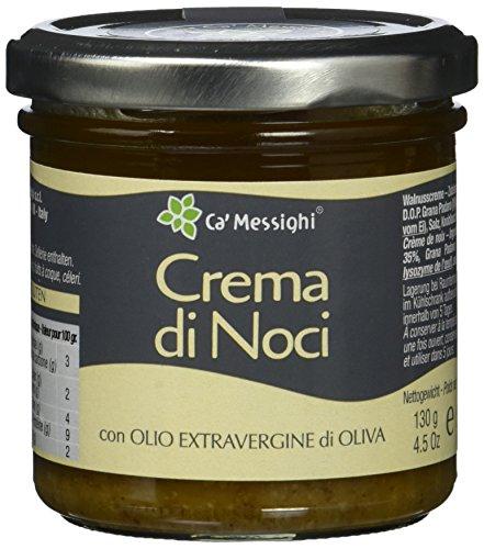 Ca'Messighi Crema di Noci - Creme aus Nüssen mit Parmesan,1er Pack (1 x 130 g)
