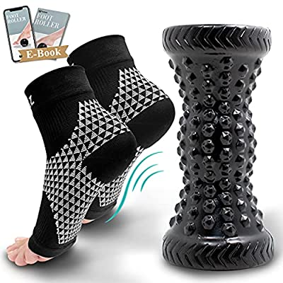 Amazon - 10% Off on  Foot Compression Sleeves & Foot Roller Set for Women & Men