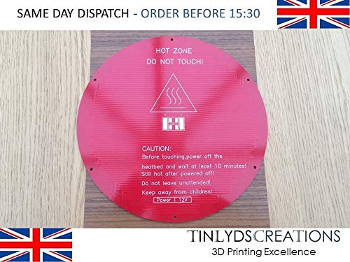 Round Aluminum PCB Heatbed Heated Bed 220 * 220 * 3mm for 3D Printer Delta Rostock 3D Printer Heatbed Hot Plate 220 x 3mm Round Rostock Delta 12v - MK2Y Aluminium PCB
