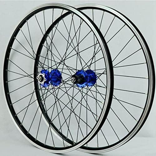 M-YN Bike Rim MTB Wheelset 26/27.5 / 29inch Bicicleta Ciclismo Rim Mountain Bike Wheel 32h Disc/Rim Freno 7-12 Accesorio De Bicicleta De Velocidad(Size:27.5inch,Color:Azul)