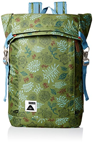 Poler Stuff Bag Roll Top Pack, Unisex, Bag Rolltop Pack, Brotanical Mossy, Taglia unica