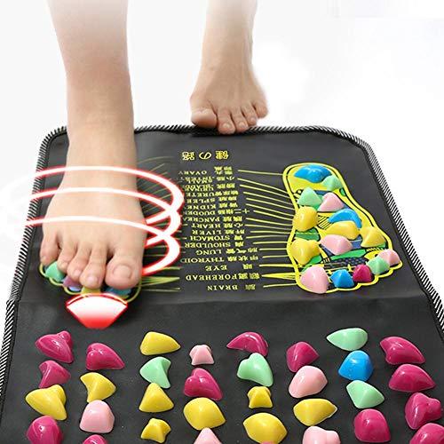 Onlyonehere Fußreflexzonenmassage Spaziergang Stein Fußmassagematte, Foot Acupoints Massage Matte Schmerzlinderung Füße Walk Massager Für Zu Hause Fußpflege