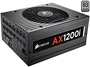 Corsair AXi Series, AX1200i, 1200 Watt (1200W), Fully Modular Digital Power Supply, 80+ Platinum (Renewed)