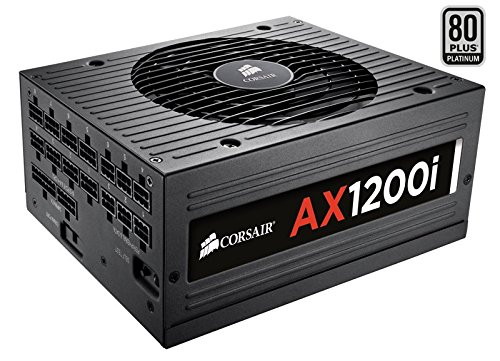 Corsair AXi Series, AX1200i, 1200 Watt (1200W), Fully Modular Digital Power Supply, 80+ Platinum (Renewed)