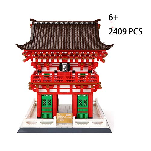 FIZZENN Juguetes educativos Mundial de la Famosa Arquitectura del Templo Kiyomizu Renwang Gate Building Blocks Establece clásicos Juegos de construcción Regalo para el Cabrito y Adulto