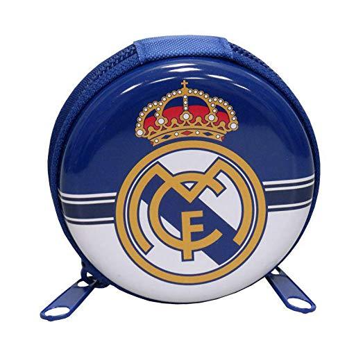 Real Madrid Monedero de Metal Redondo de Monedero, 25 cm,...