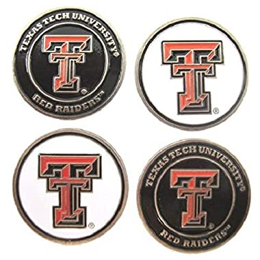 (4) Texas Tech Red Raiders Golf Ball Markers