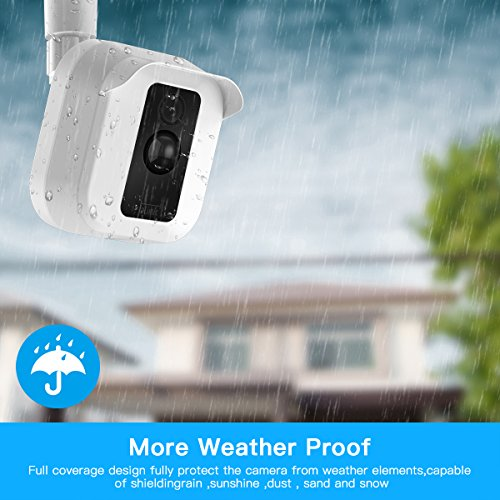 Blink XT Camera Wall Mount Bracket,Weather Proof 360 Degree Protective Adjustable Indoor Outdoor Mount and Cover for Blink XT Home Security Camera System Anti-Sun Glare UV Protection (White(1 Pack))
