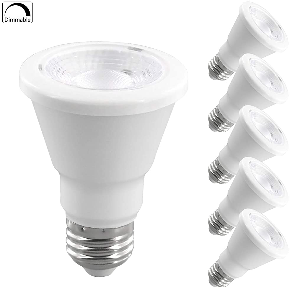 PAR20 LED Light Bulb 6 Watt (60W Equivalent) Flood Dimmable 3000K Kelvin Soft White, 510 Lumens, Indoor/Outdoor, 25,000 Hrs, Accent and Highlight - UL 30K6WZC