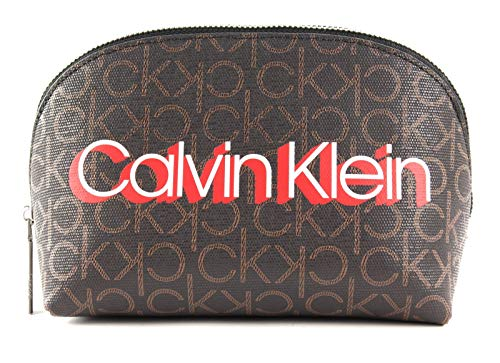 Calvin Klein Monogram Make-Up Bag Brown Monogram