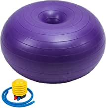 Maxspace Exercise Ball, Donut Yoga Ball Fitness Ball Massage Ball PVC Thickened Anti Burst & Slip Resistant with Quick Pum...
