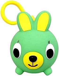 Oshaberi Doubutsu Talking Animal Ball Borukuma Stress Ball - Key Chain Clip - Green Bunny (Rabbit)