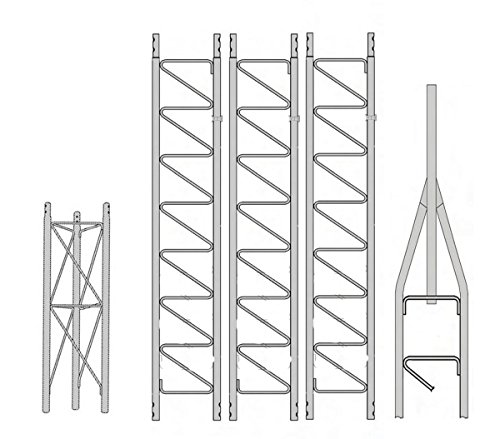 ROHN 25SS040 40' Self-Supporting Tower, No Ice. Buy it now for 820.00